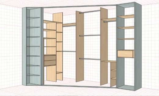 Замер встроенного шкафа